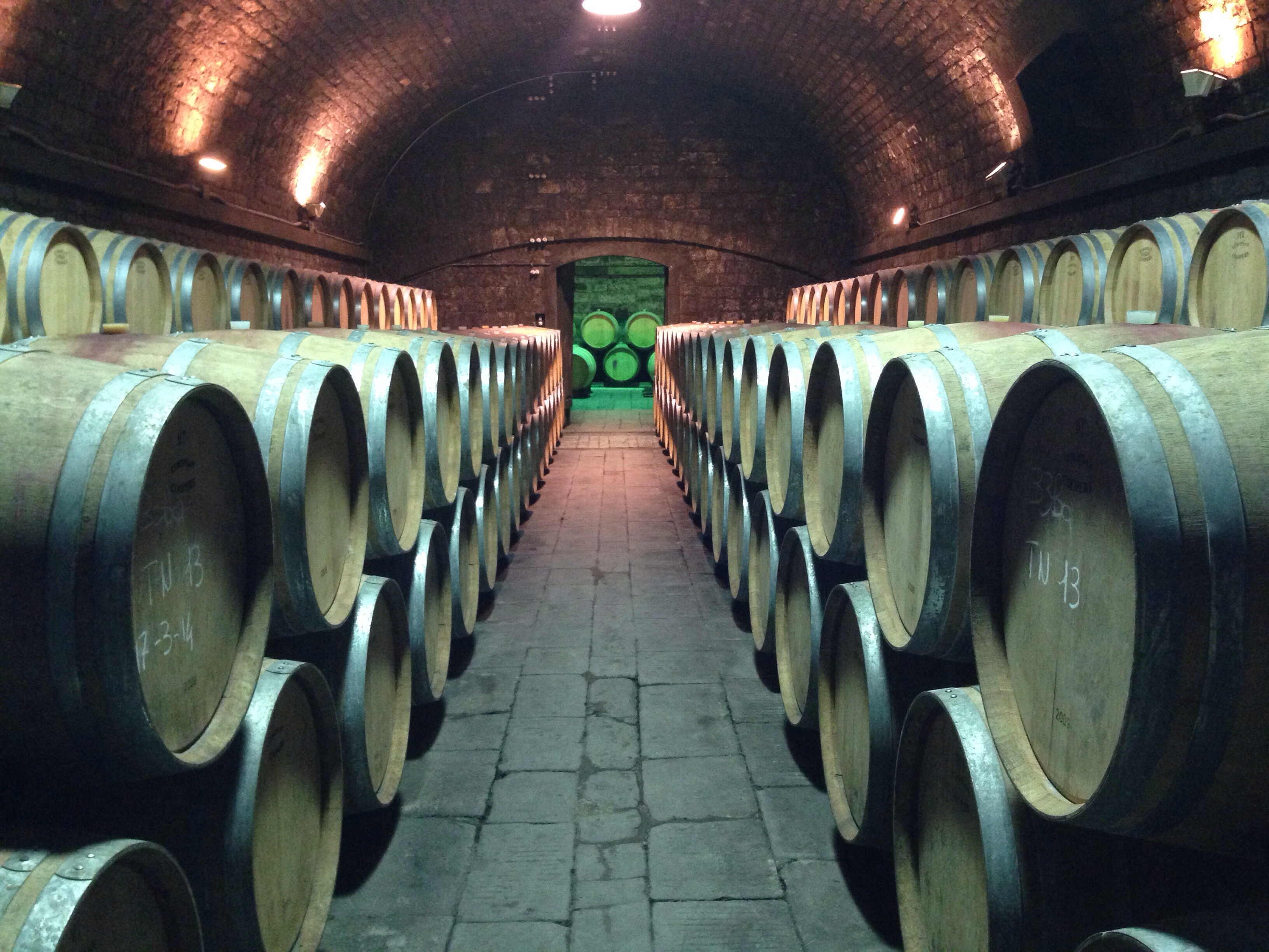 The corridor of love.. Antinori cellars in an old monastery