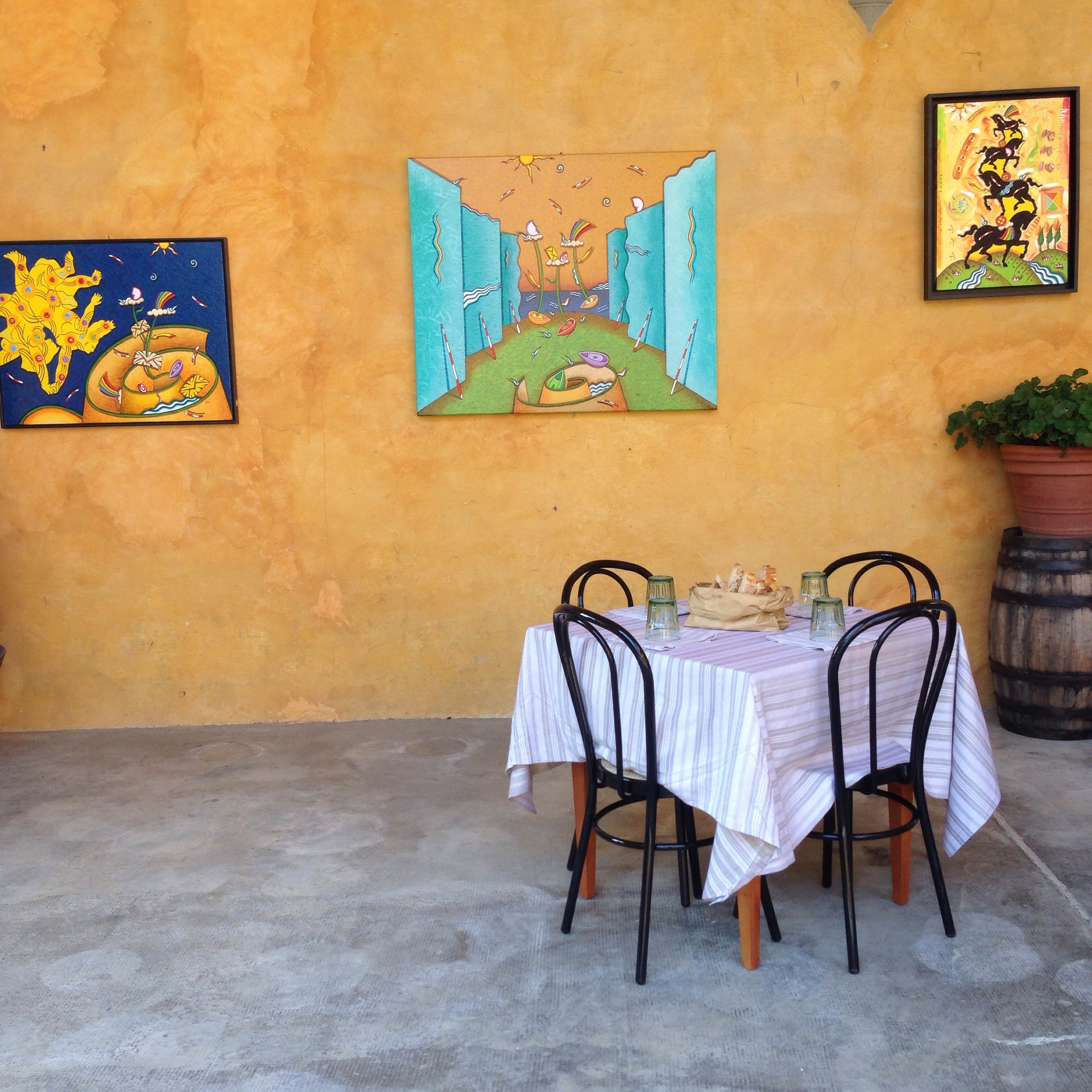 The casual, rustic charm of many agriturismi, including this one: Il Paganello