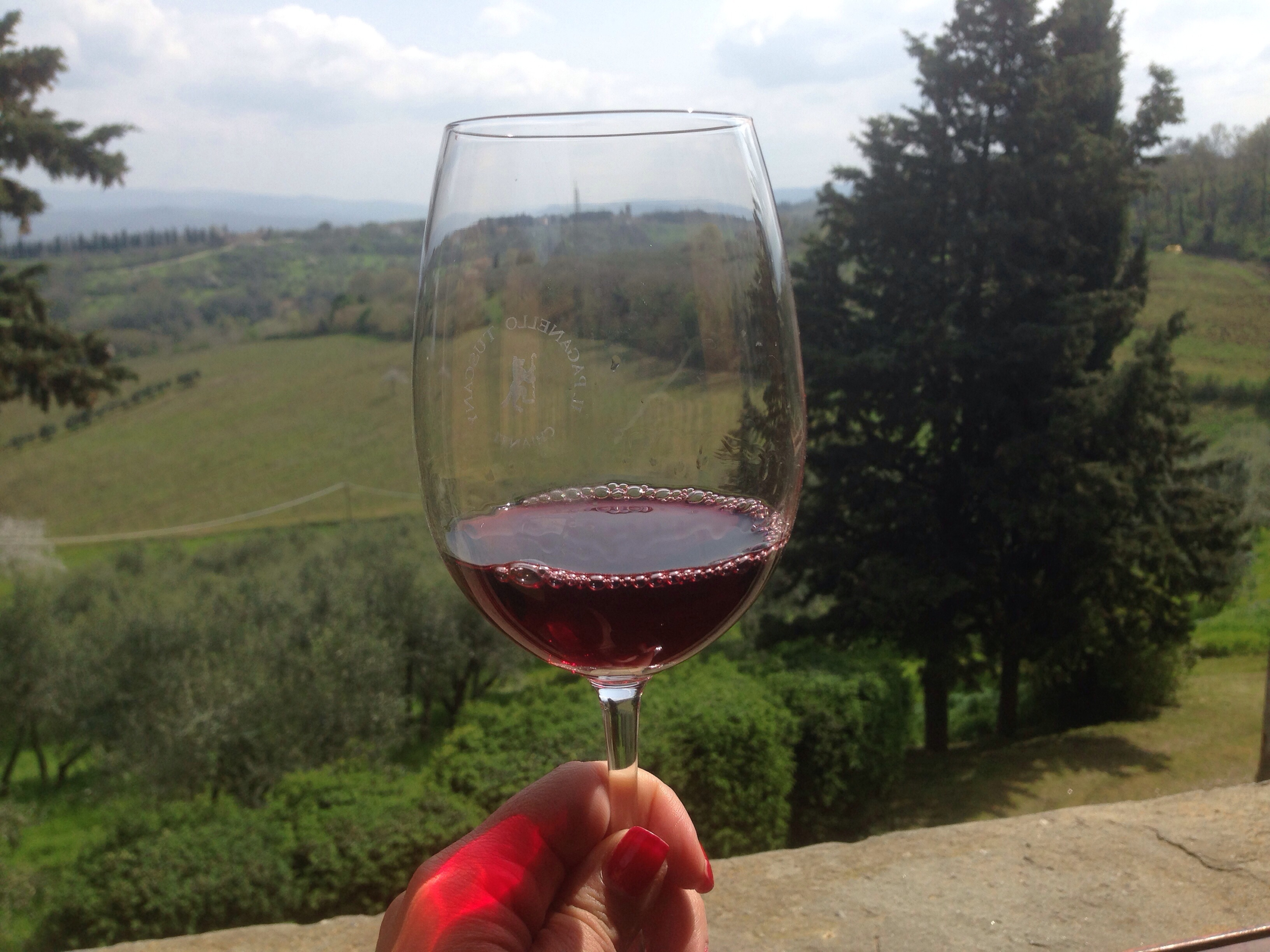 Chianti red with a not-so-bad view
