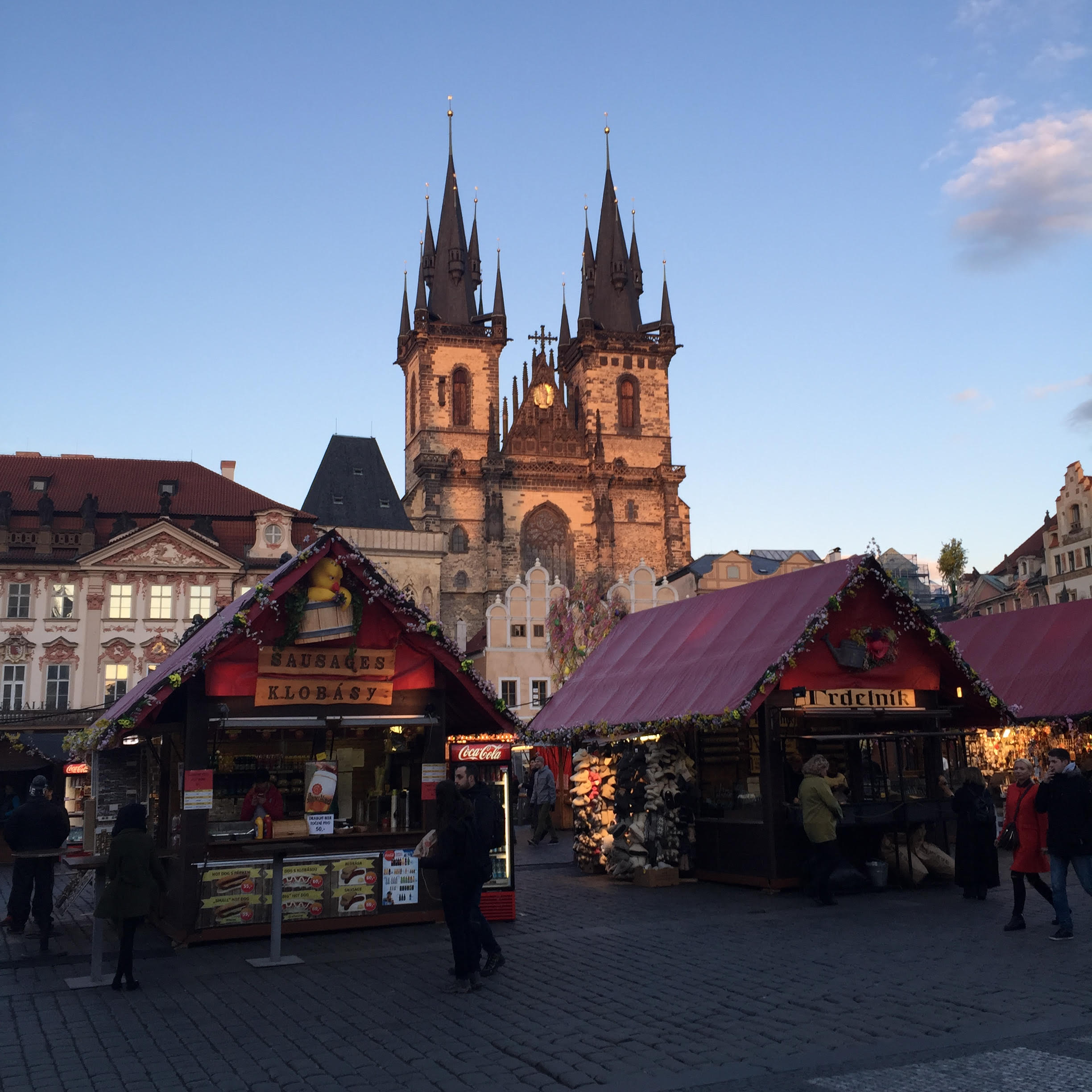 The gorgeous old town square is the backdrop for the Easter market stands