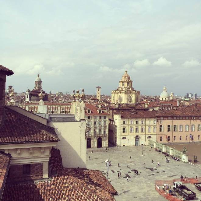 The view of Torino from the top floor of the Palazzo Madama is breathtaking