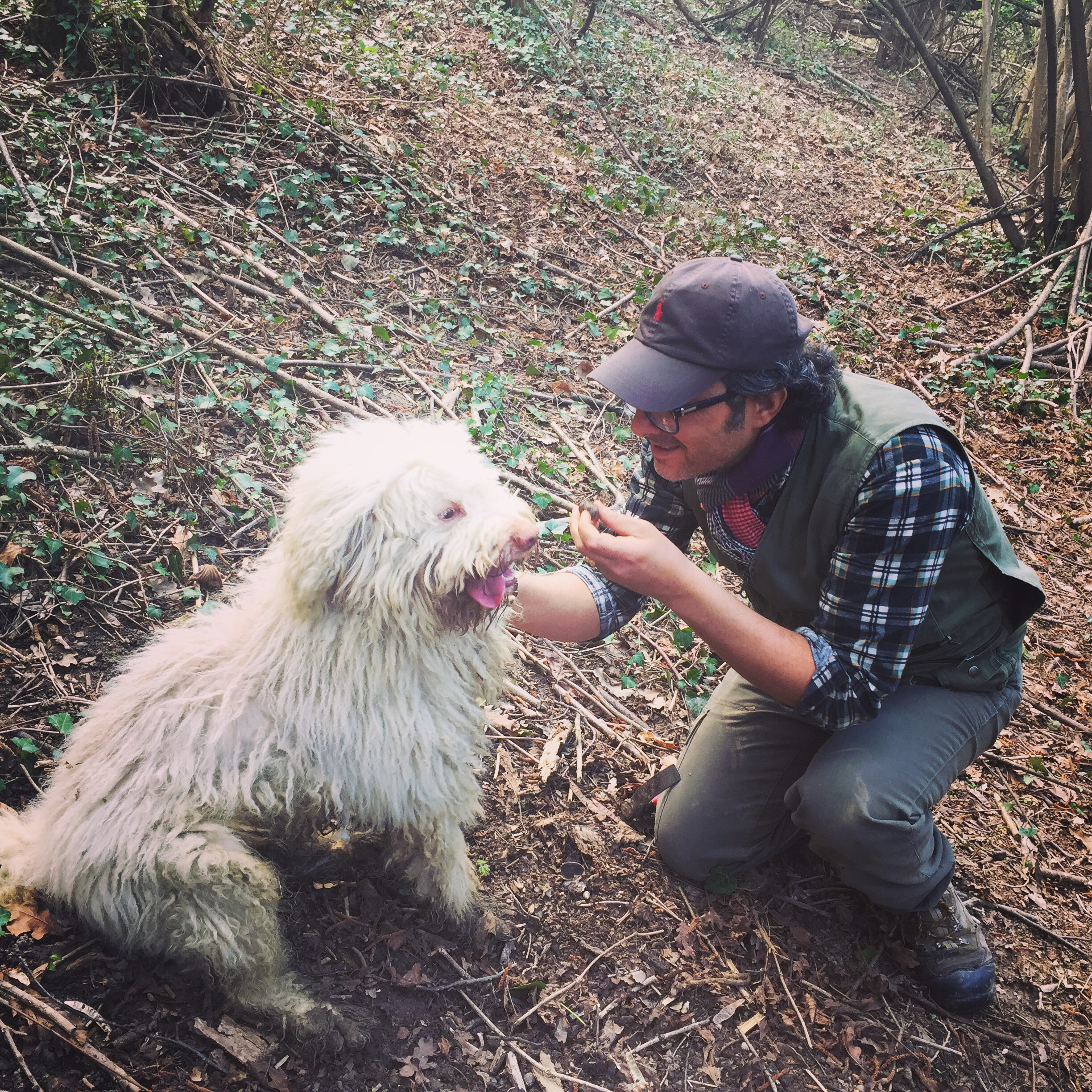Meet Giueseppe - a local truffle hunter - and his dog Luna