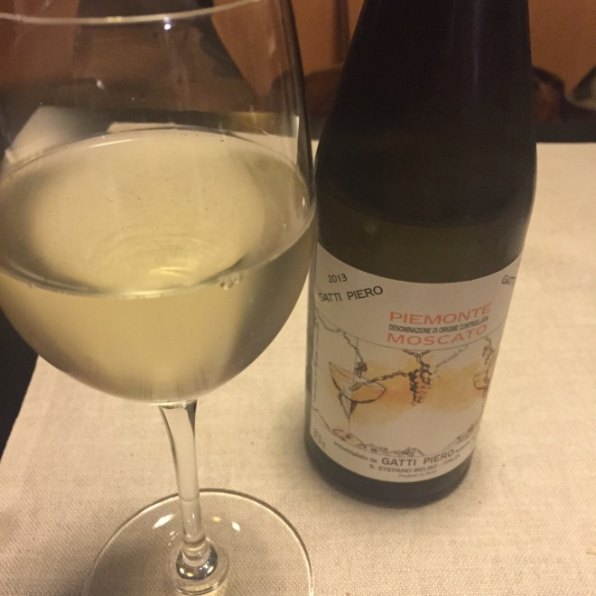 No shortage of wine in Piemonte! Find one to match each course - like this Moscato d'Asti for dessert