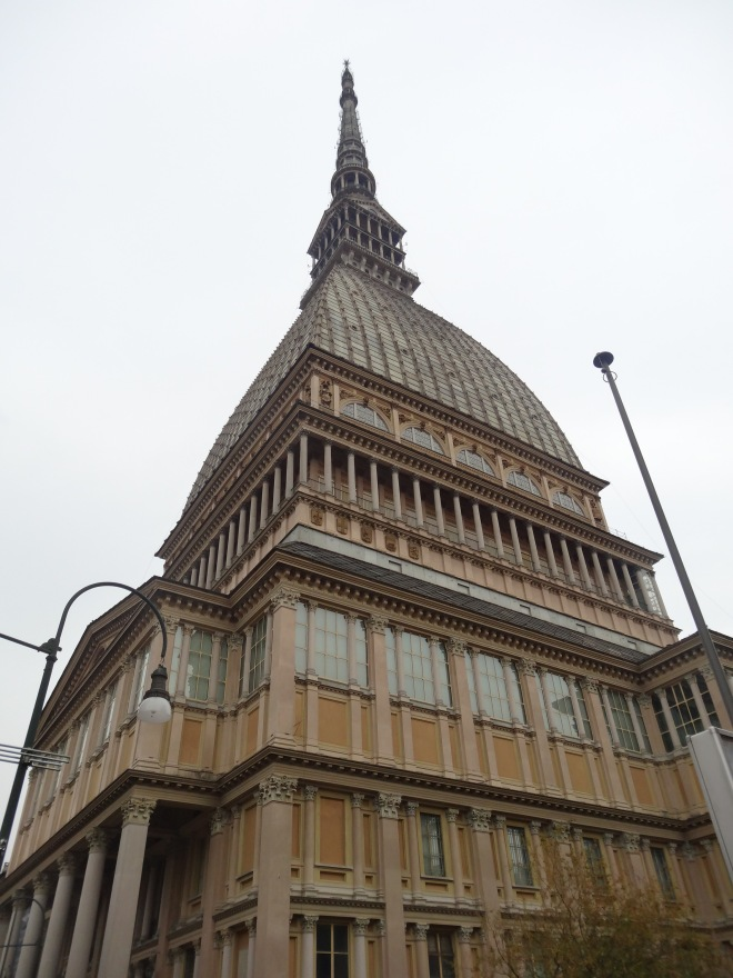 The Mole Antonelliana tower can be seen from just about all corners of Torino. It features the museum of cinematic history and a viewing deck with views of all the city