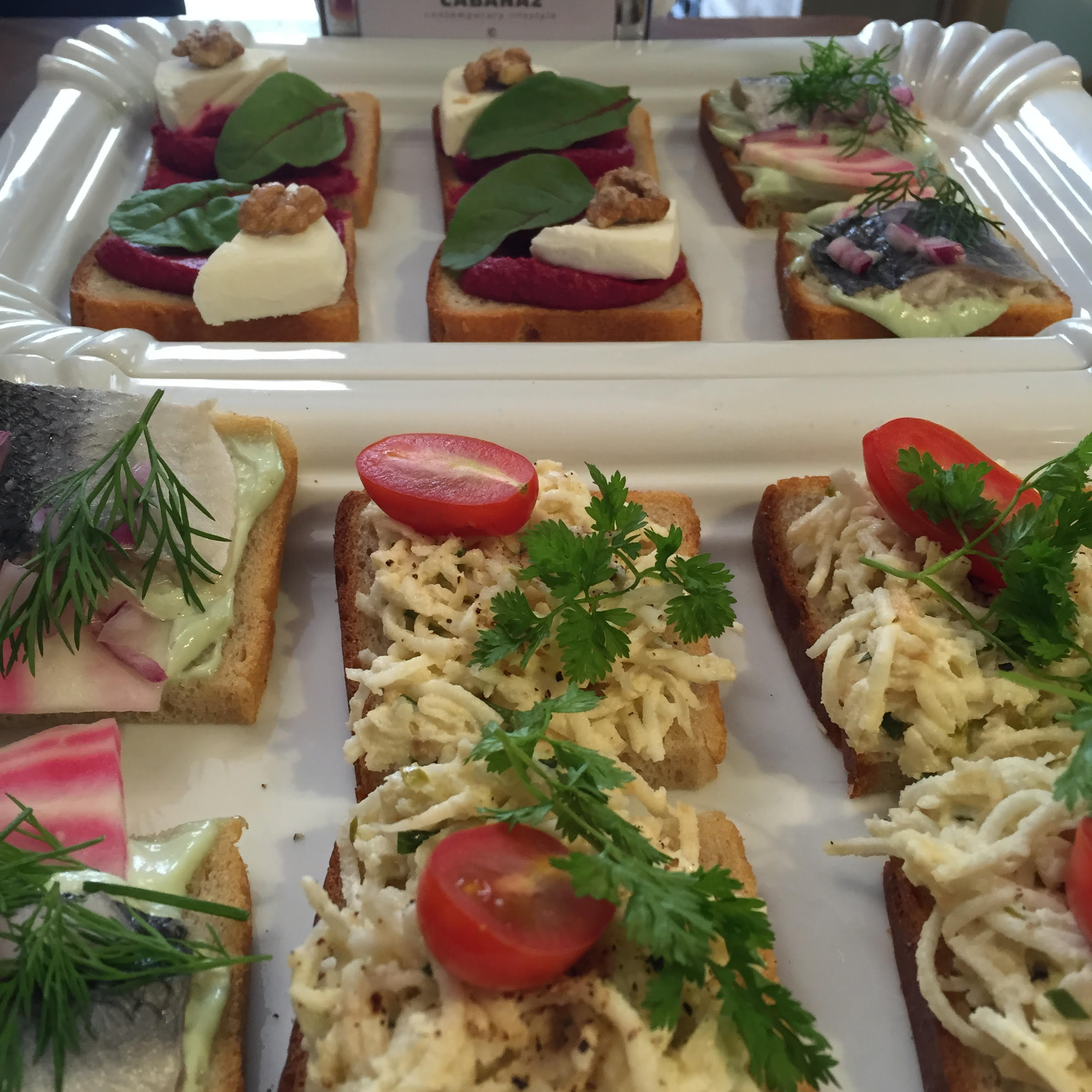 Sisters: A modern take on traditional Czech open faced sandwiches